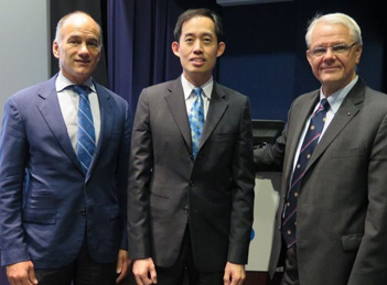 Christopher Caldarone with Joseph Woo and James Rutka