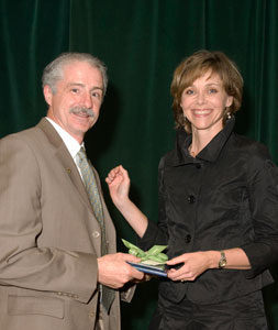 Helen MacRae (right) presents the Surgical Skills